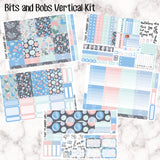 Bits and Bobs - VERTICAL weekly kit - Individual sheets available or full kit!! Erin Condren Style Planner Stickers - individual sheets