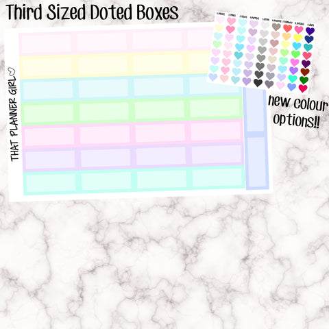 Third Sized Dotted Box Stickers