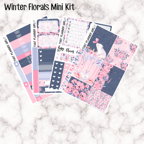 Winter Florals Mini Kit - Sheets available individually or as a full kit!!