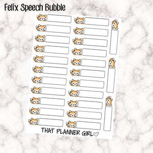 Felix Speech Bubble
