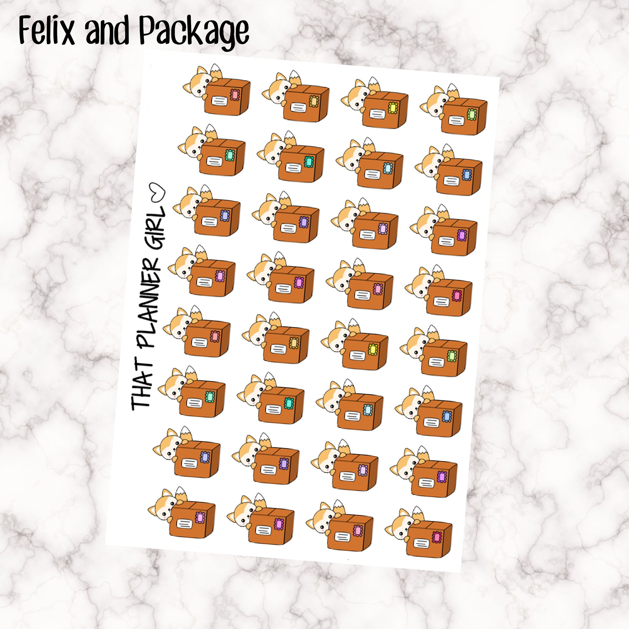 Felix and Package Stickers