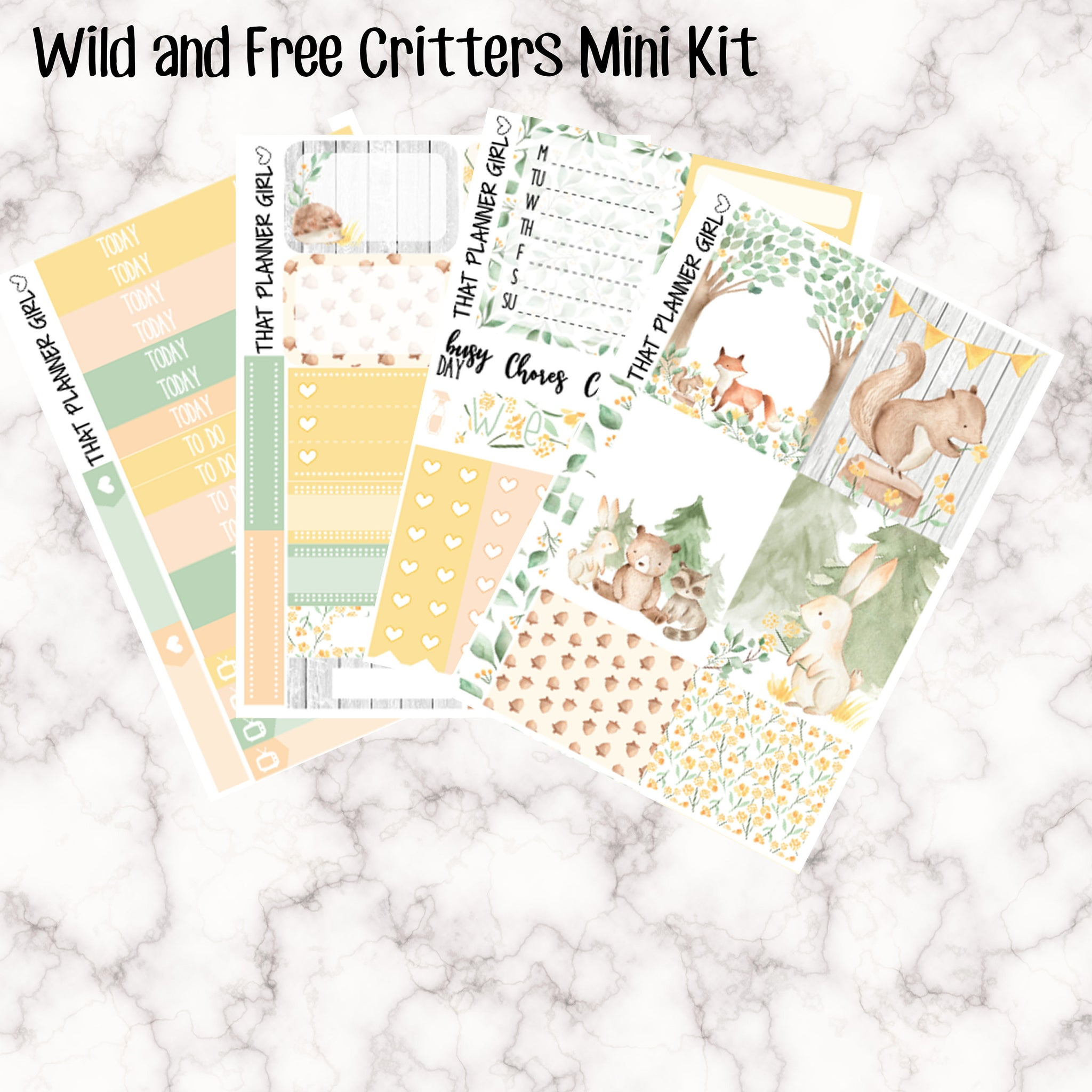Wild and Free Critters Mini Kit - Sheets available individually or as a full kit!!