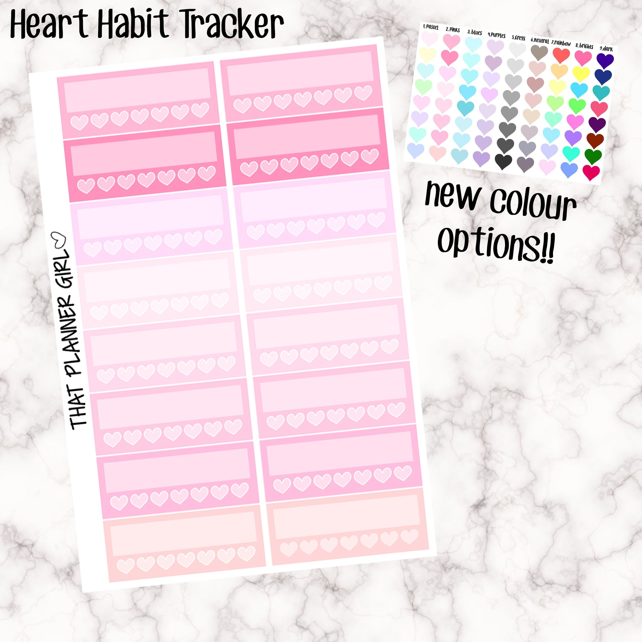 Habit Trackers with Hearts