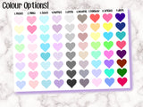 Habit Trackers with Hearts - Cute for tracking habits! Functional Basics - 9 Colour Options Available - Erin Condren EC / kikki K