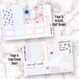 Purple Summer - VERTICAL weekly kit - Erin Condren Planner Stickers - inc. full boxes, 1/2 boxes, checklists etc! Optional Date Covers