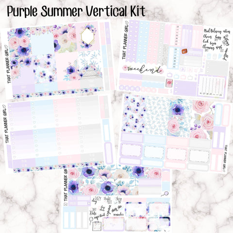 Purple Summer - VERTICAL weekly kit