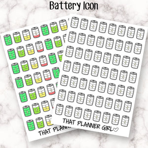 Battery Icon Sticker