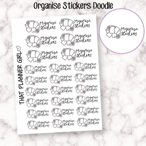 Organise Stickers Hand Lettered Stickers