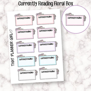 Currently Reading - Floral Half Box Doodle