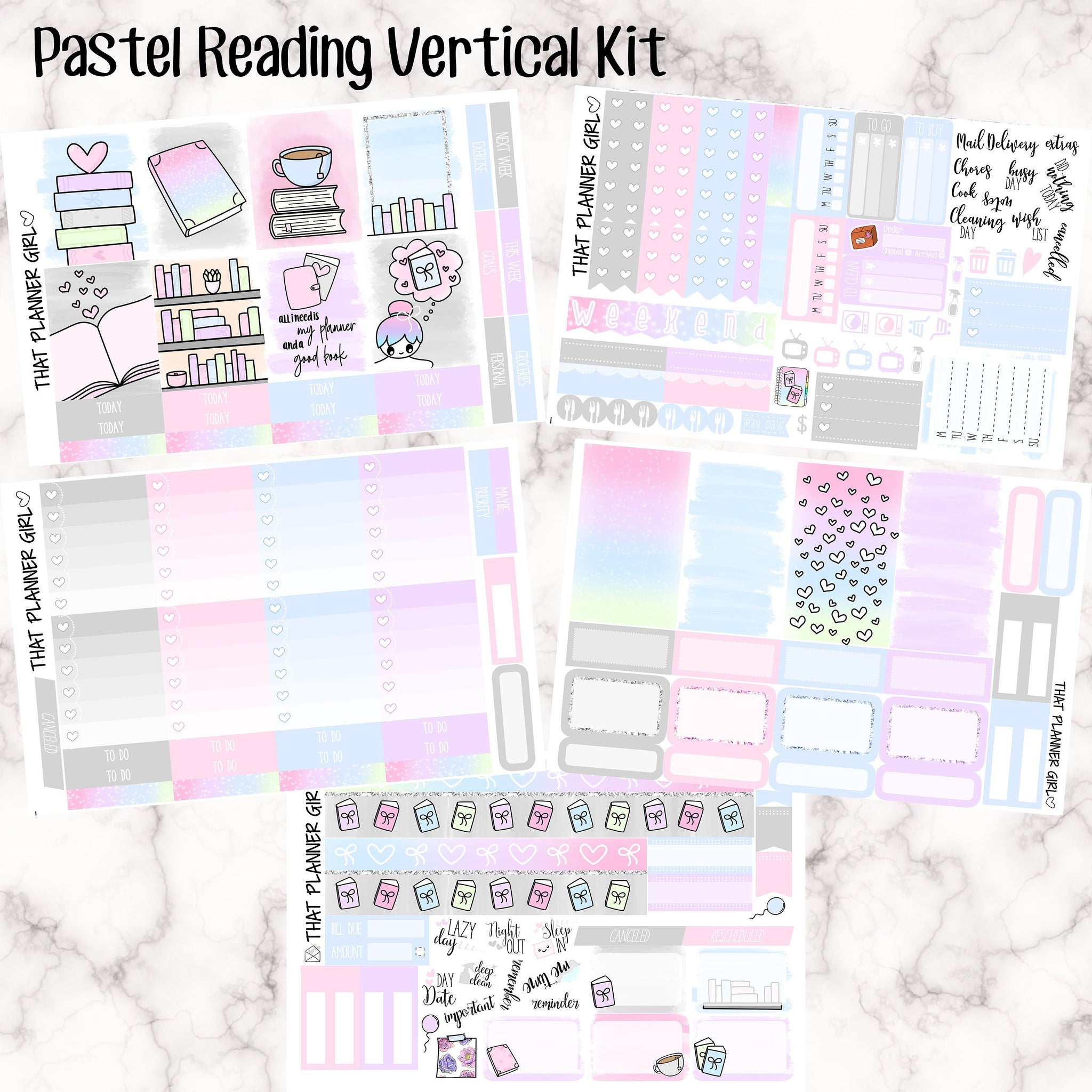 Pastel Reading Vertical Kit