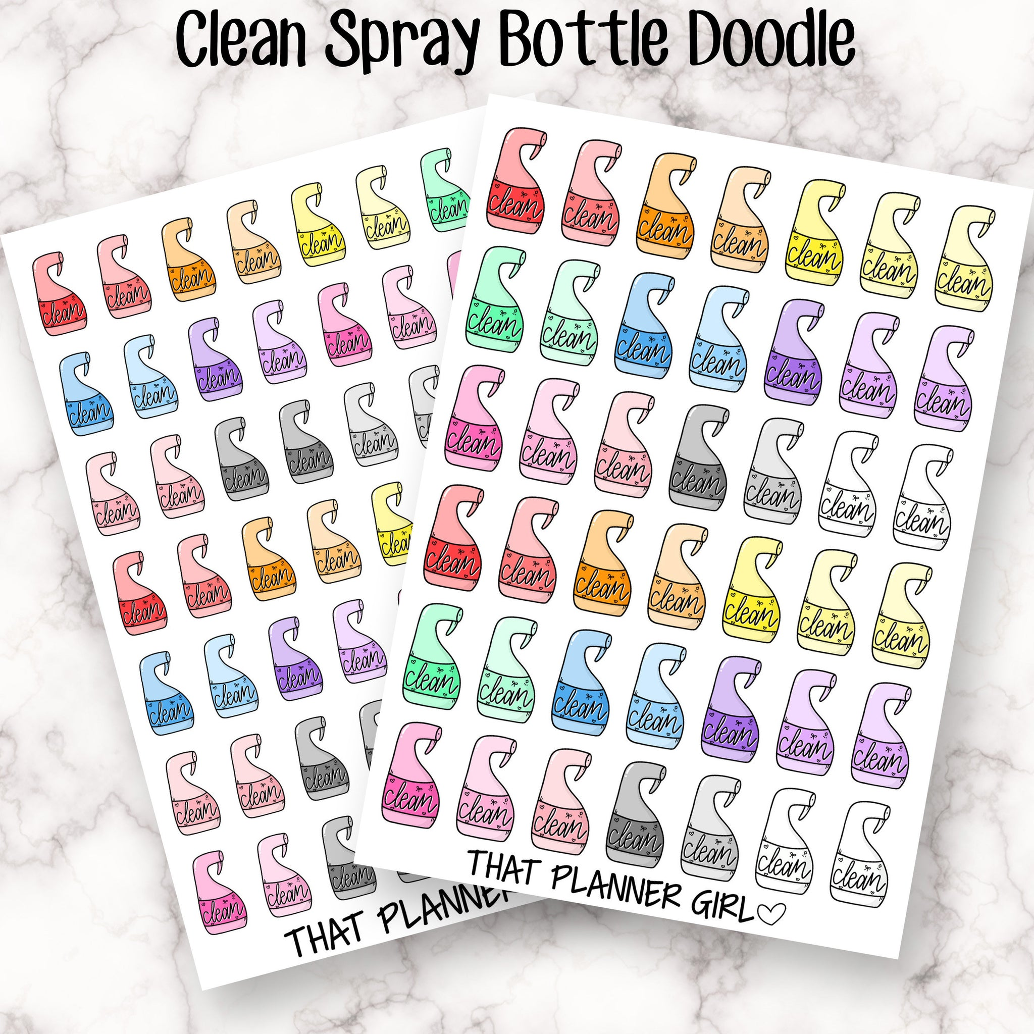 Doodle Spray Bottle Sticker