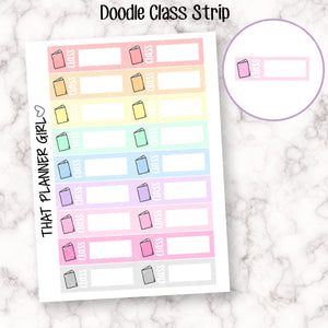 Class Doodle Strip / Label Sticker