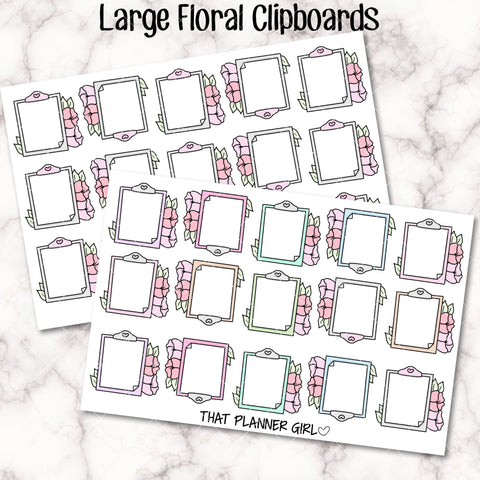 Clipboard Floral Sticker