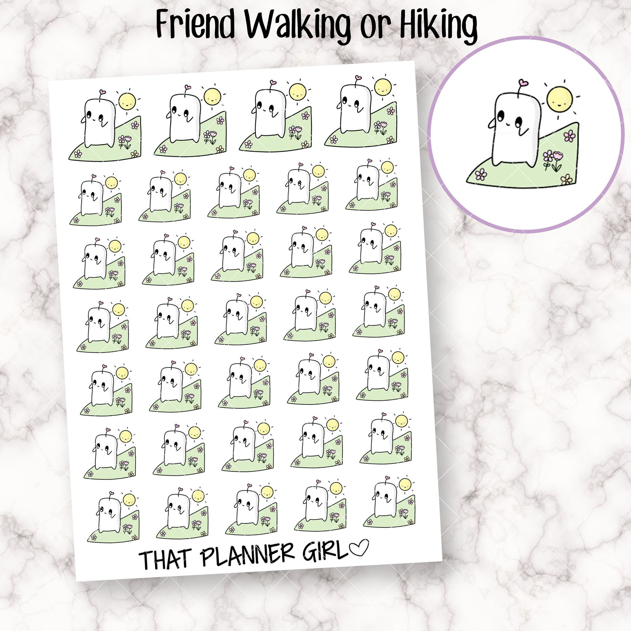 Friend Walking or Hiking Stickers