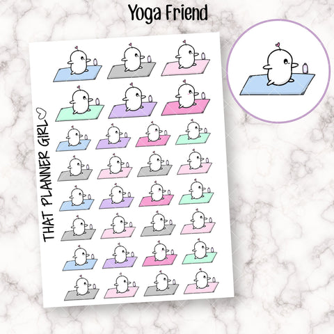 Friend doing Yoga Stickers ver 2