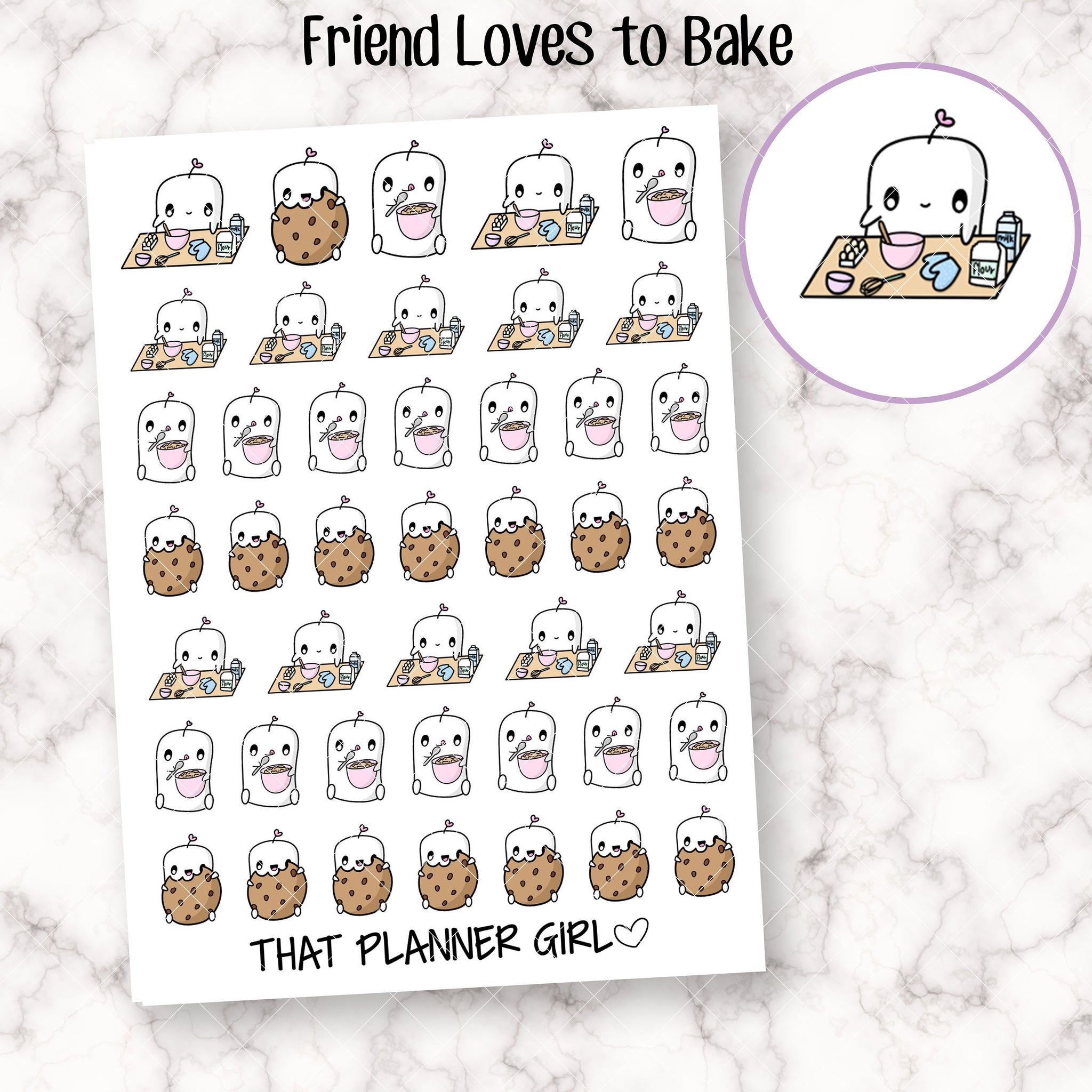 Friend loves to Bake Stickers