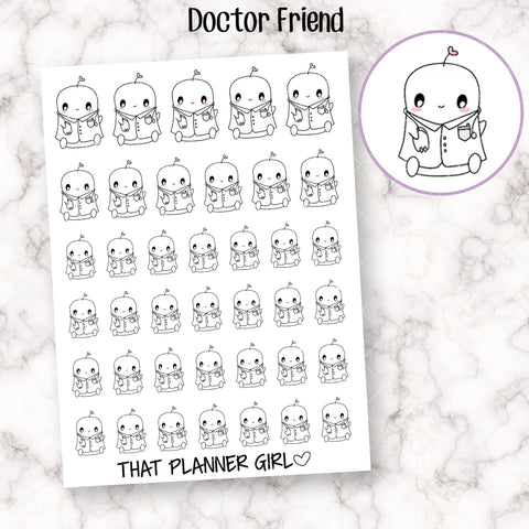 Doctor Friend Character Planner Stickers