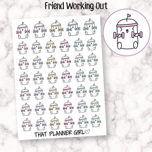 Friend Work Out Stickers