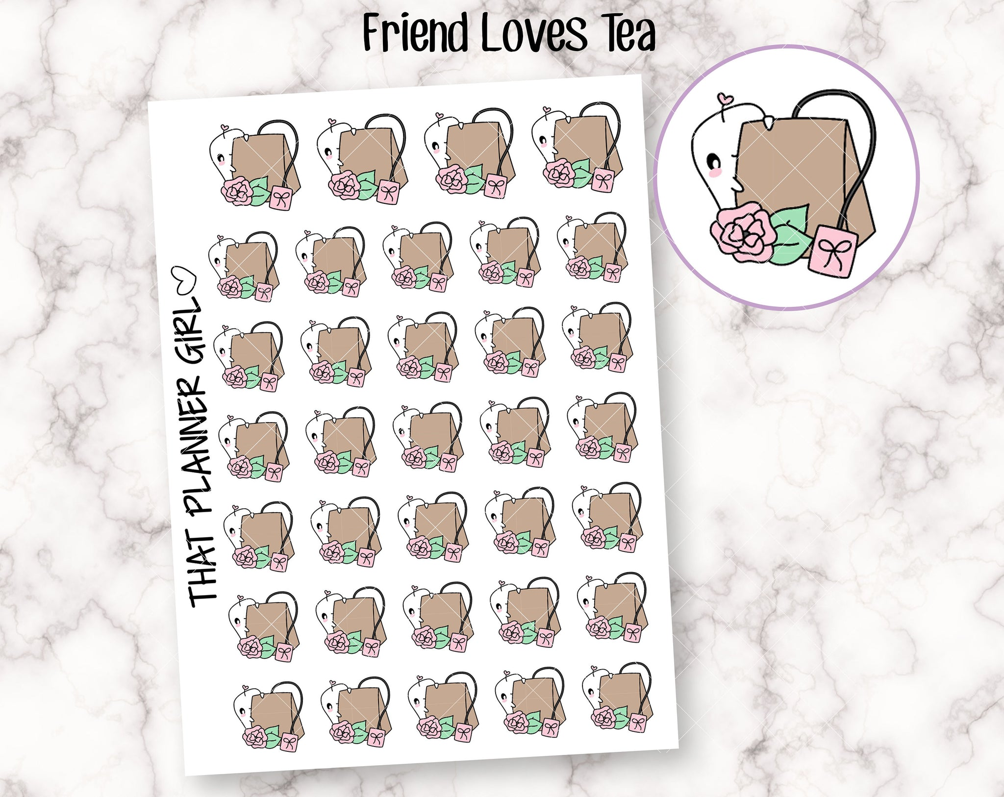 Friend Loves Tea Stickers