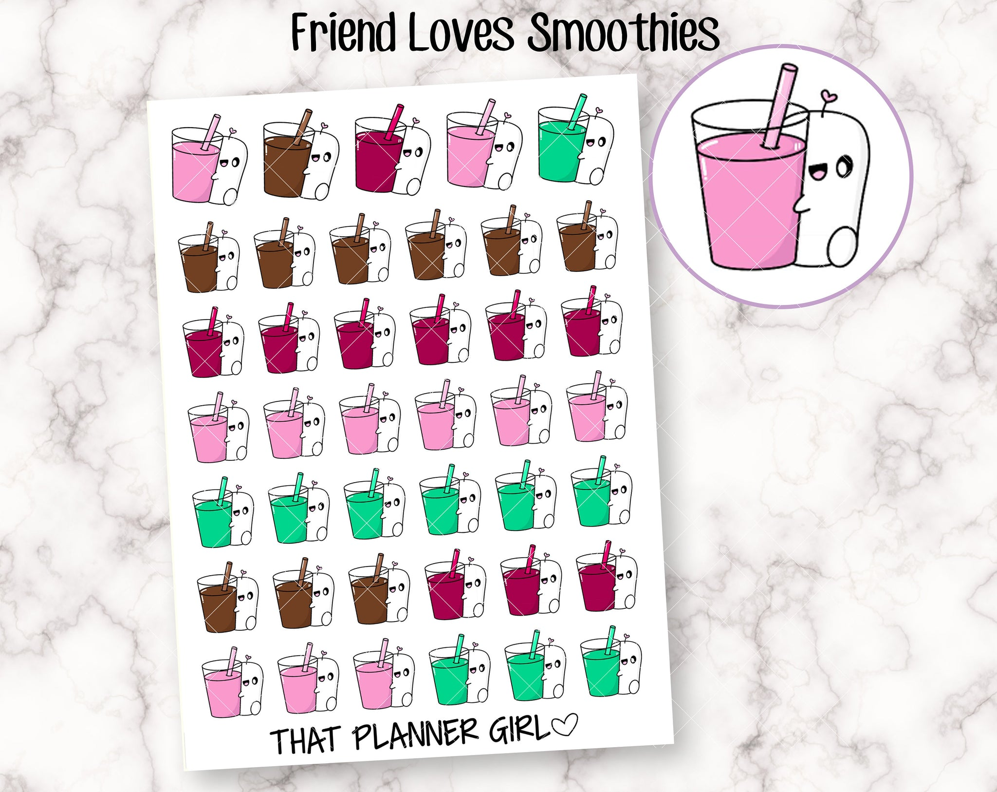 Friend Loves Smoothie Sticker