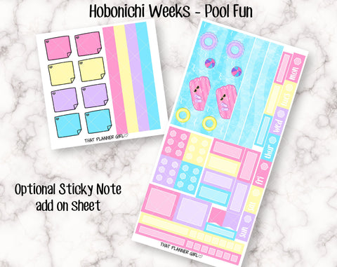 Pool Fun - Hobonichi Weeks Kit