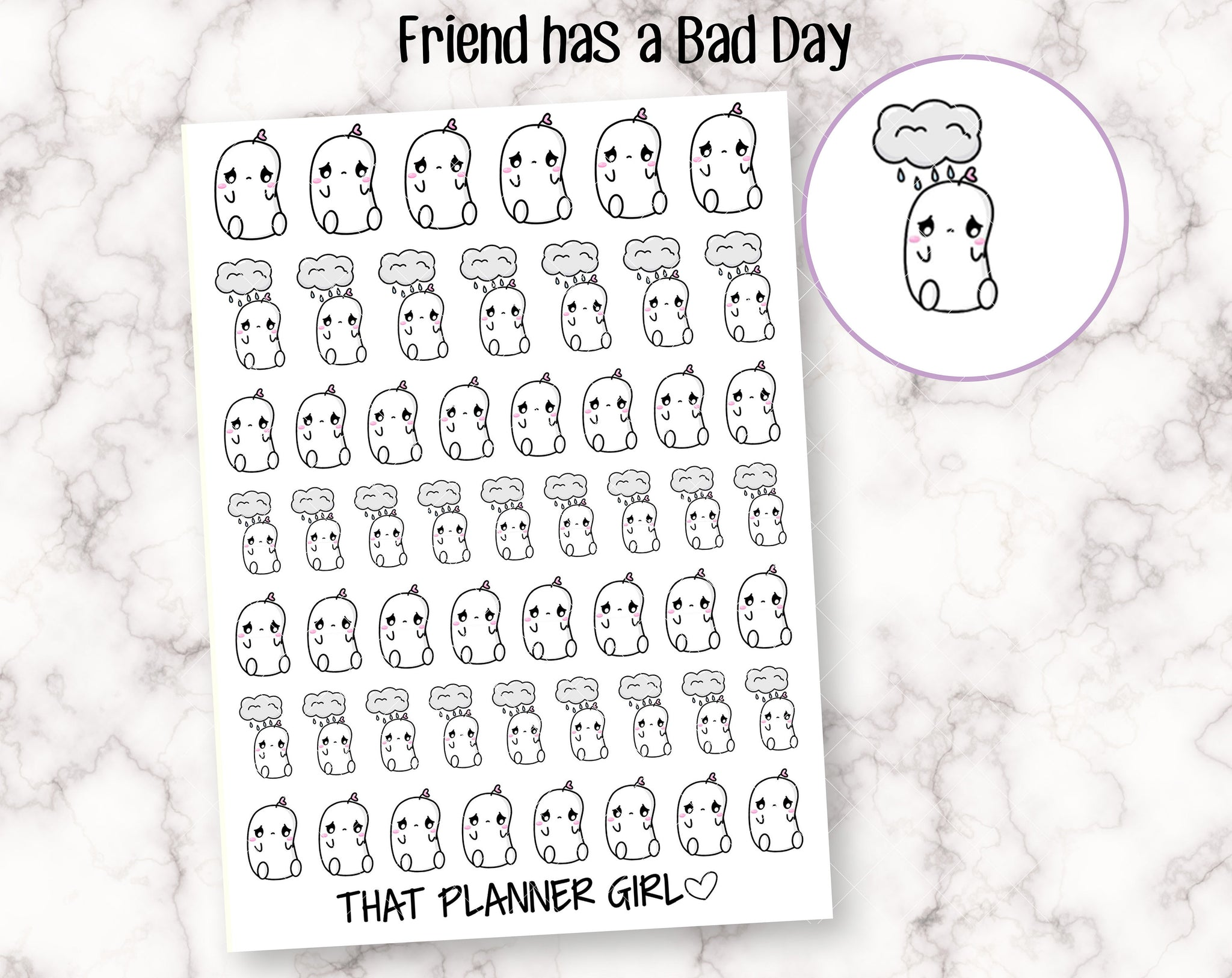 Friend has a Bad Day Stickers