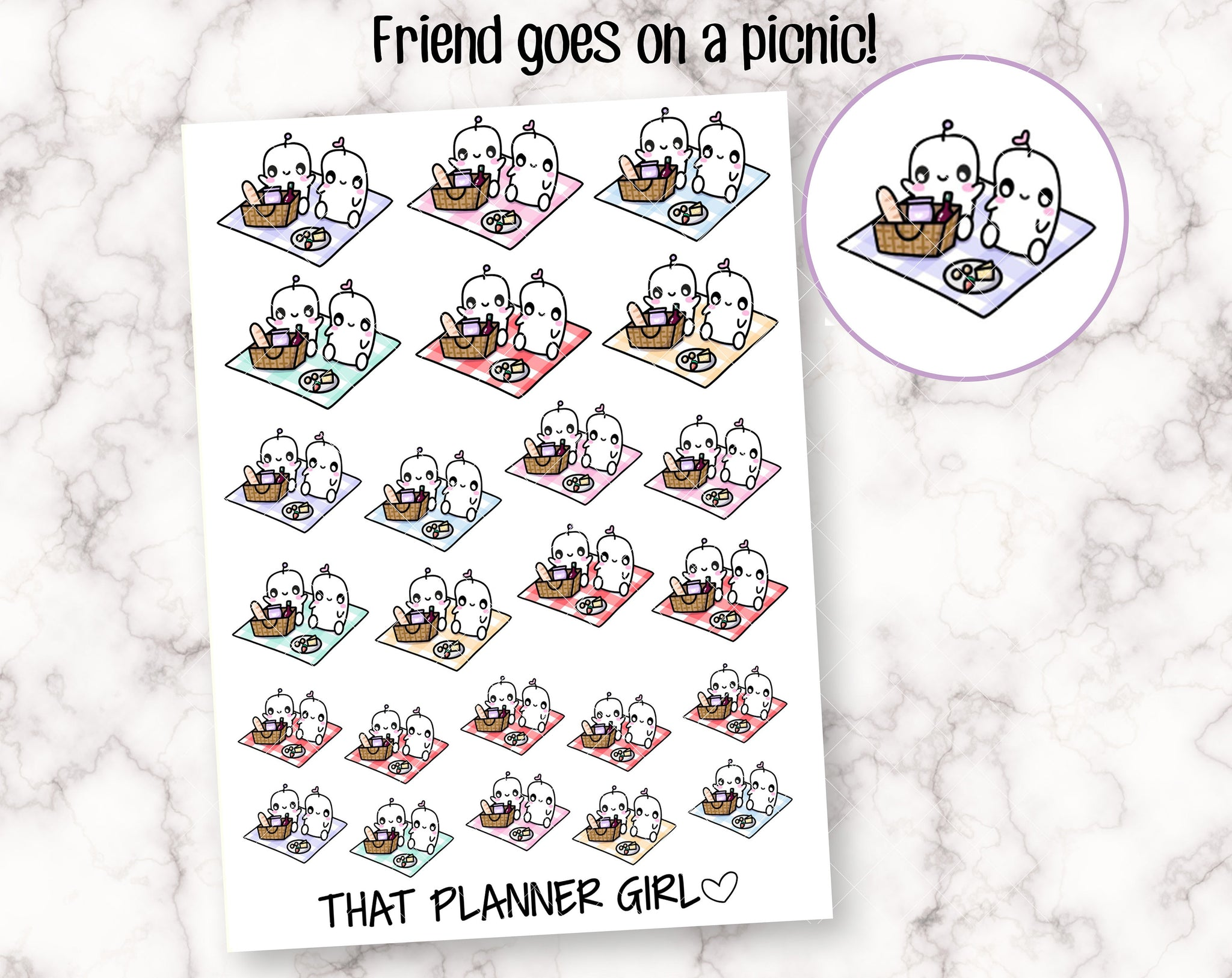 Friend and Picnic Stickers