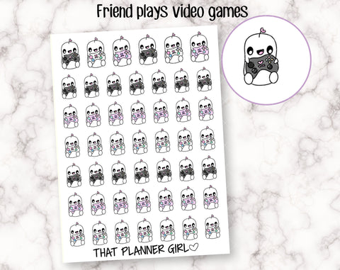 Friend and Game Controller Stickers