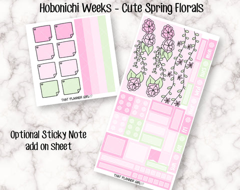 Cute Spring Florals - Hobonichi Weeks Kit