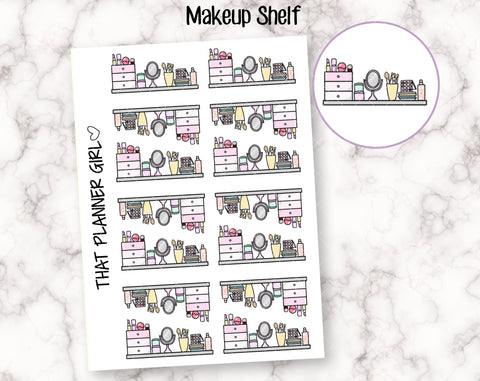 Make Up Shelf Stickers