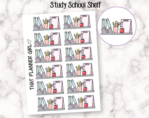 Study / School Shelf Stickers