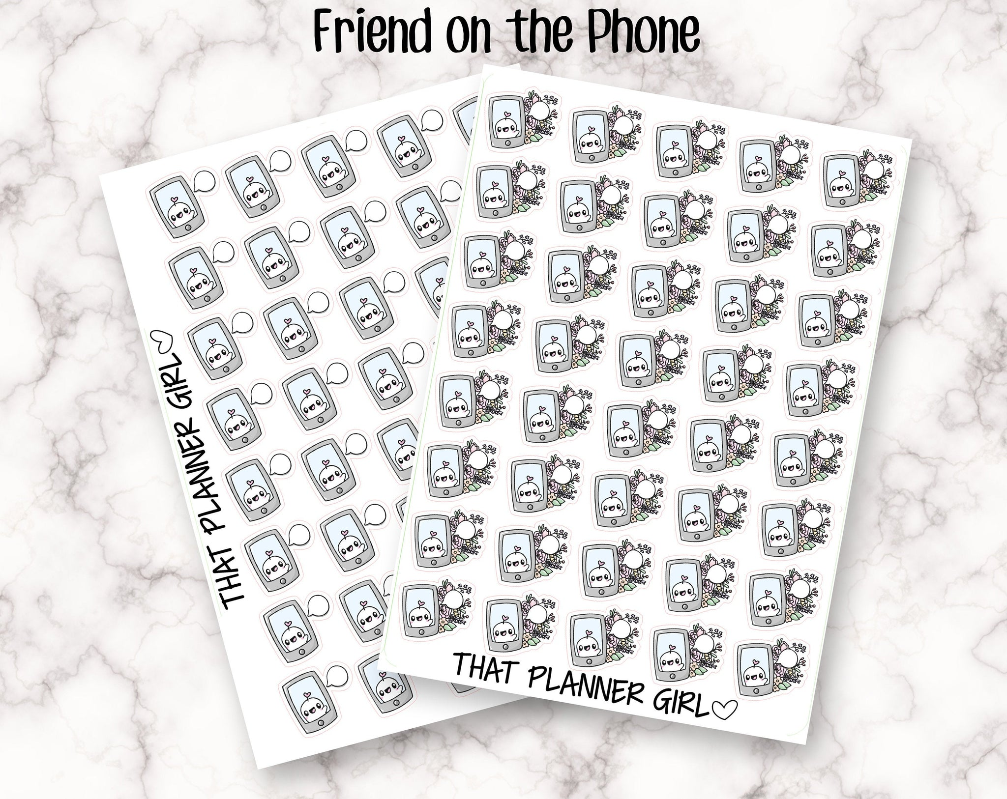 Friend on the phone call Stickers
