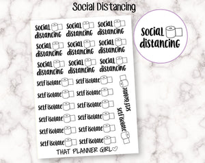 Toilet Paper Social Distance Stickers