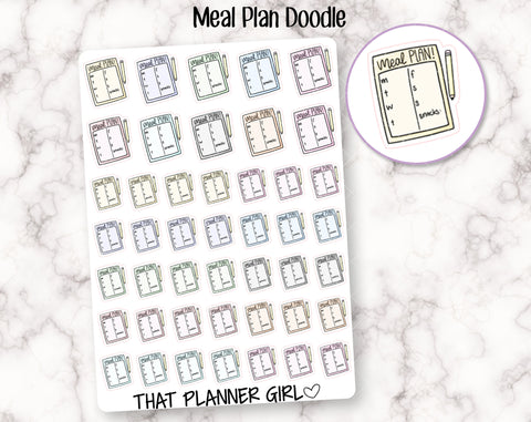 Meal Plan Doodle Stickers