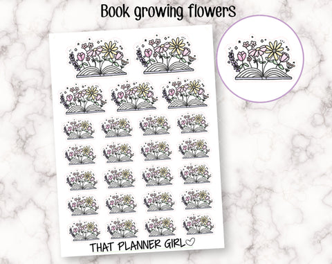 Floral Book Stickers
