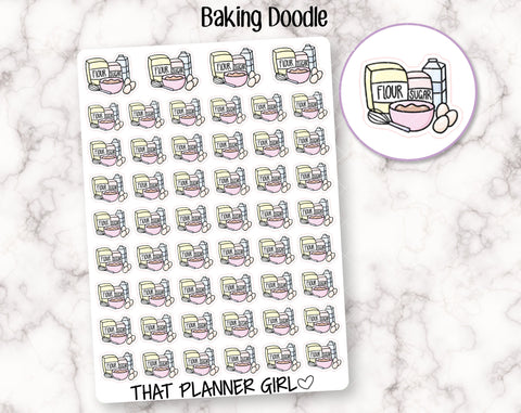 Baking Doodle Stickers