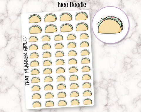 Taco Doodle Stickers
