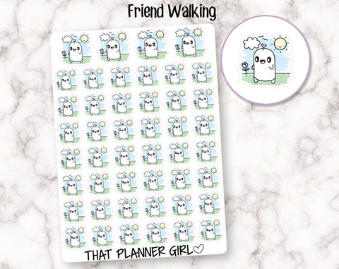 Friend Walking Stickers