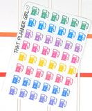 Petrol / Gas pump Planner stickers - Never forget to refill your car! - Perfect for the Erin Condren Life Planner - Pastel Rainbow