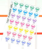 Car Repair / Service Planner stickers - Perfect for scheduled service / repairs - Perfect for the Erin Condren Life Planner - Pastel Rainbow