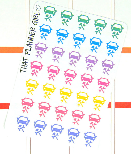 Car Repair / Service Planner stickers