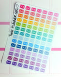 Envelope/Mail/Email Stickers- Perfect for the Erin Condren EC + Plum Paper Planner PPP - 98 Individual Stickers