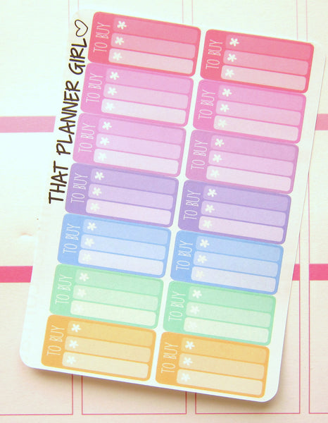 To Buy Planner Sticker Mini Check Lists