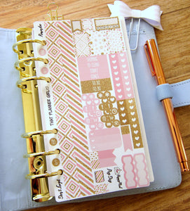Gilded in Gold PERSONAL SIZE sticker kit