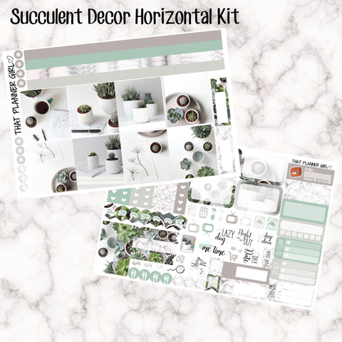 Succulent Decor - HORIZONTAL kit