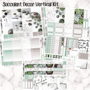 Succulent Deco - VERTICAL weekly kit