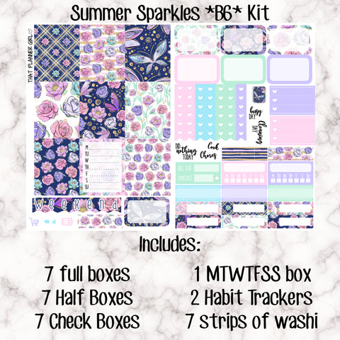 Summer Sparkles - B6 Weekly Kit