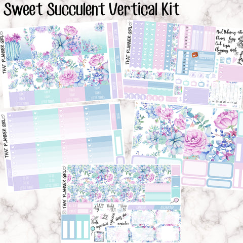 Sweet Succulent Kit - VERTICAL weekly kit