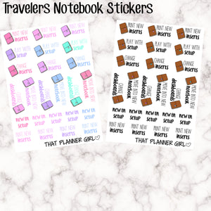 Travellers Notebook TN Planner Stickers