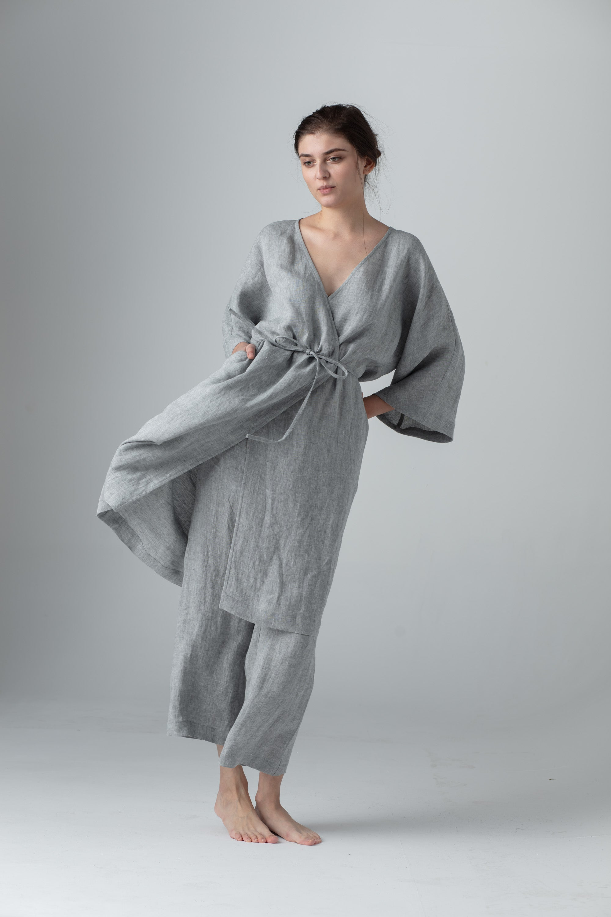 Linen robe made in Europe